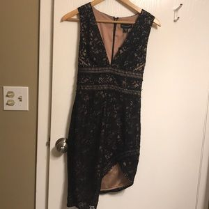 Asymmetrical Lace Dress with tags